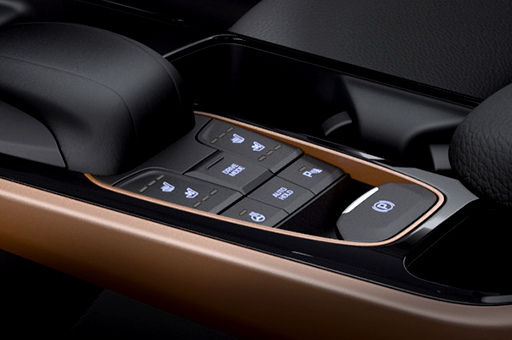 Electric parking brake control buttons