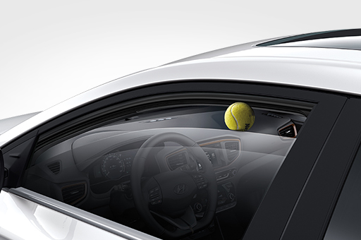Safety window adjustment control system